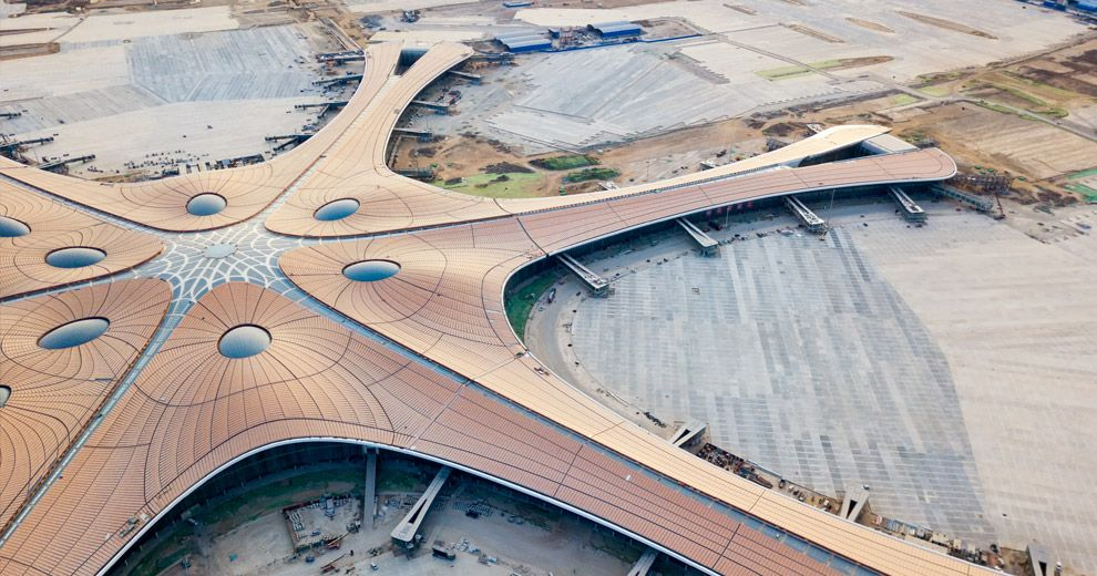 Gratien Maire visits the new Daxing mega-airport