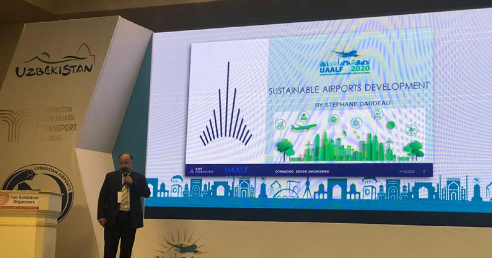 Business Development Director, Stephane Dardeau, presented the Sustainable Airport Development